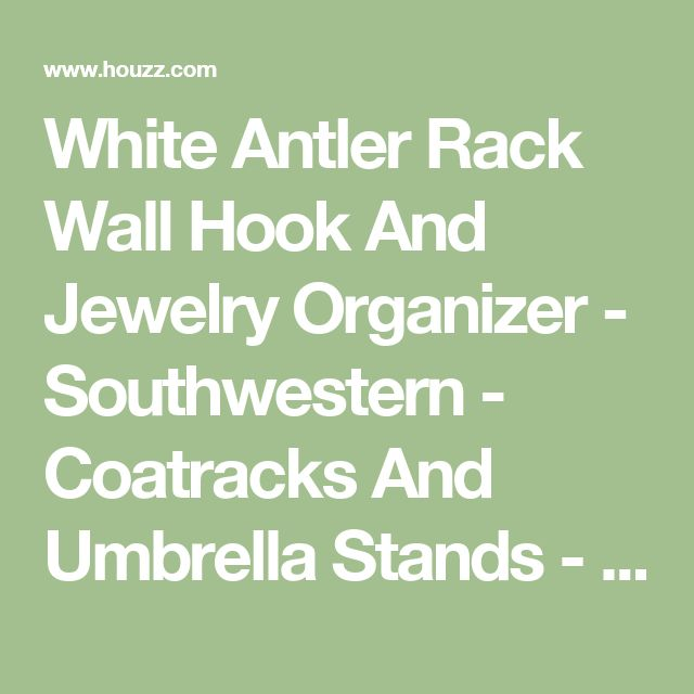 White Antler Rack Wall Hook And Jewelry Organizer - Southwestern - Coatracks And Umbrella Stands - by Near and Deer