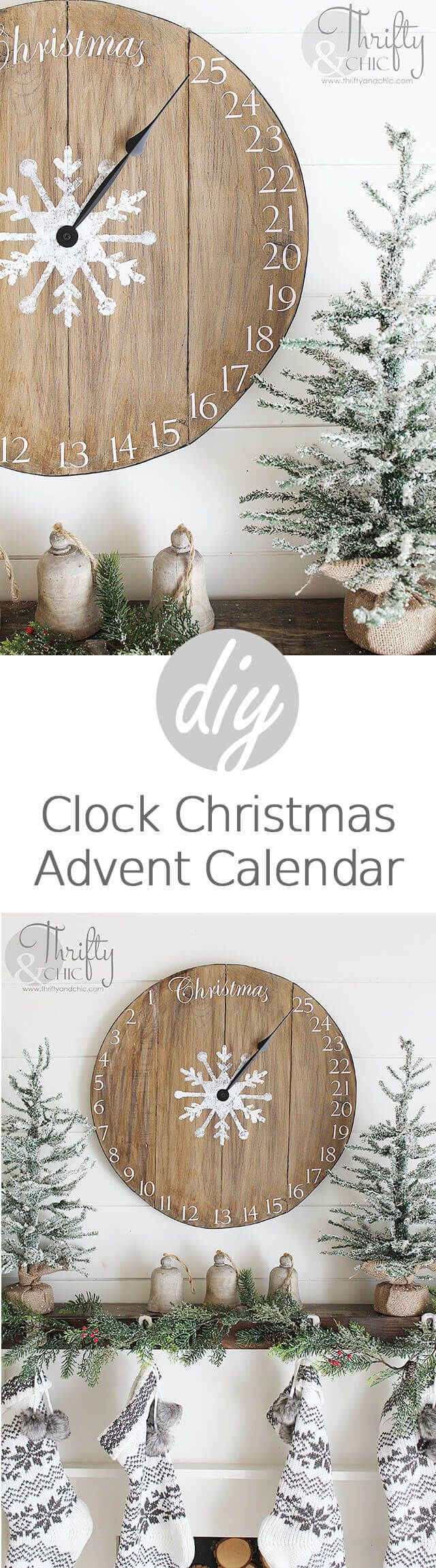 DIY Wooden Christmas Clock Advent Calendar - great alternative to the box or felt calendar!!