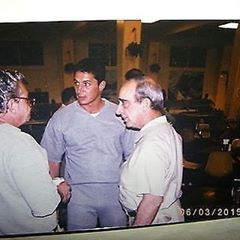 Anthony Senter from the Gambino Family and Boss of the Colombo Family Carmine Persico in prison #tbt #gangster #colombo #mob #italian #whiteboy #gambino #mafia #newyork