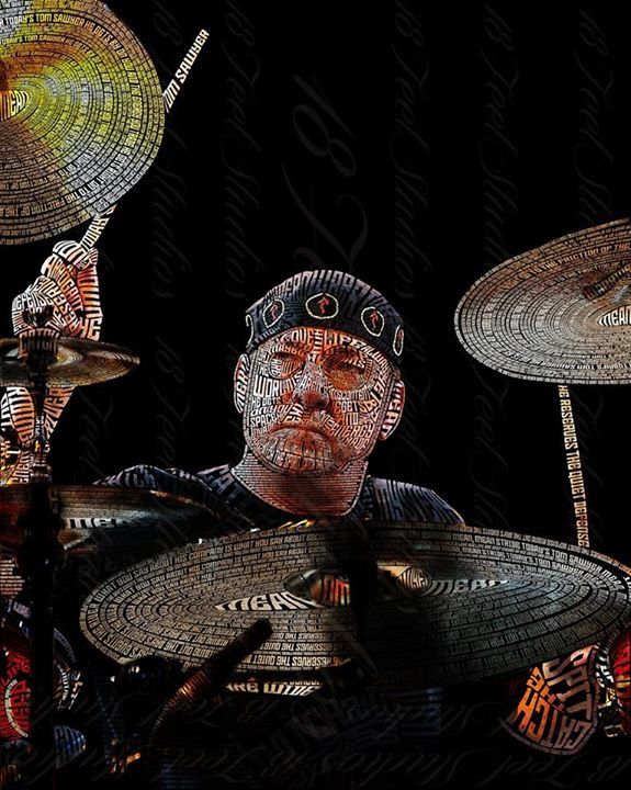 Neil Peart Typography Portrait by lilysmom85.deviantart.com on @DeviantArt