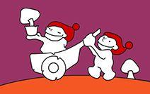 Jogos de pintar online para crianças: Duendes Brincando