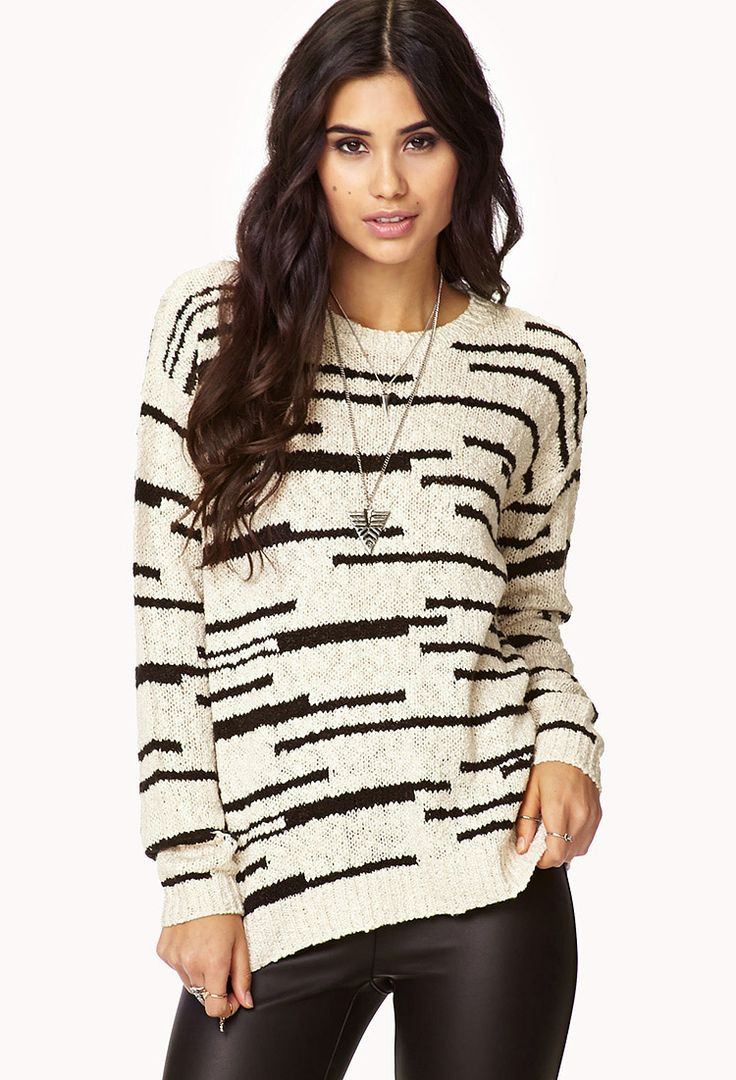 Marled Open-Knit Sweater | FOREVER21 - 2040495598
