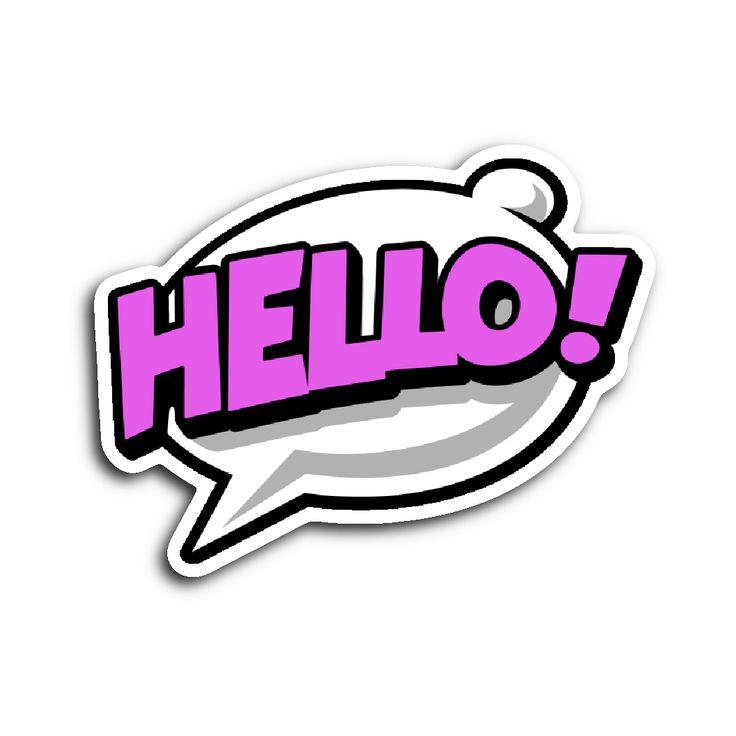 Comic Book Speech Balloon Stickers - Hello!