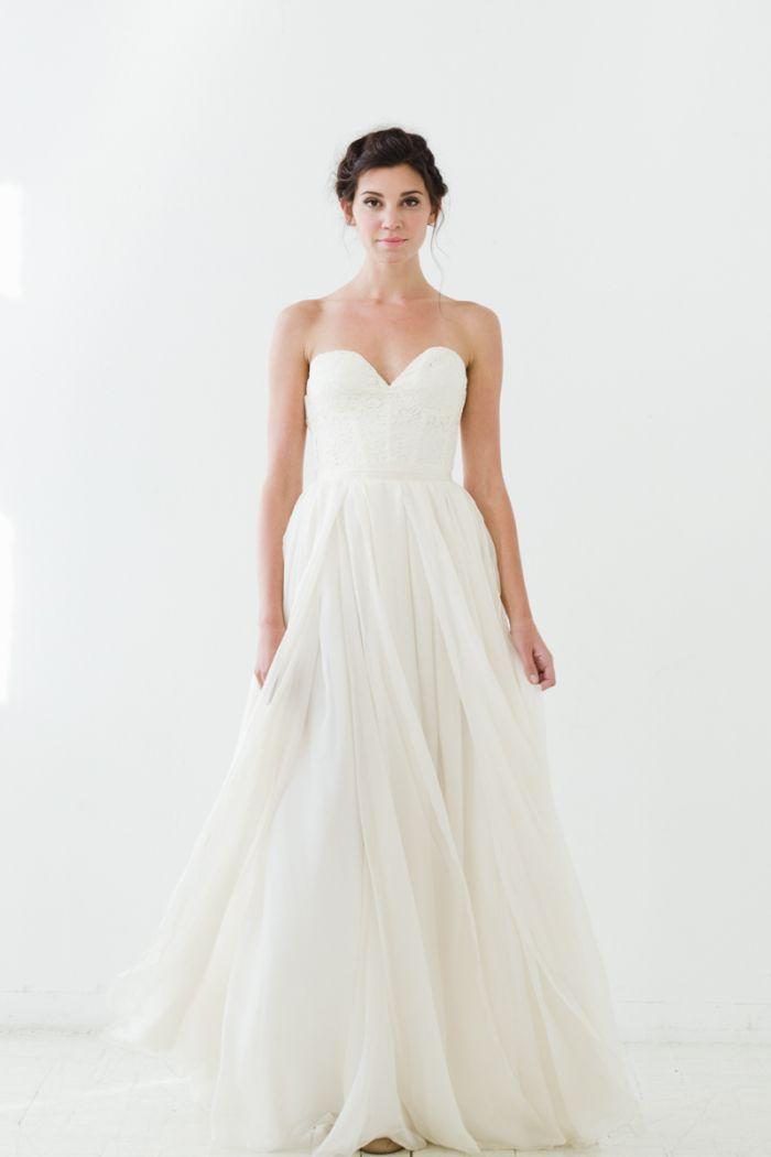 'Gardens' bustier top wedding gown | Sarah Seven Wedding Dresses 2015