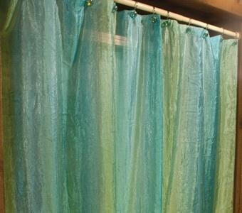 blue green shower curtain as regular curtains $13.99