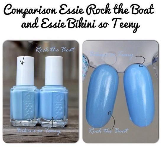 Essie Rock The Boat And Bikini So Teeny Swatches Comparisons Pinterest Essie The Boat