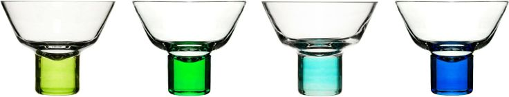 Sagaform Martini Glasses Set of 4 Blue and Green: Amazon.co.uk: Kitchen & Home