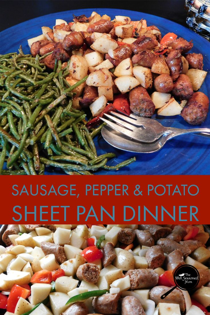 Roasted Sausage Peppers Potatoes Recipe Dinner Recipes
