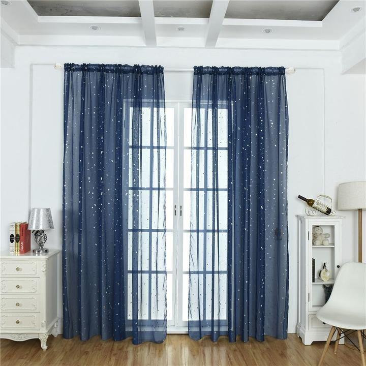 voilage paillette curtains tulle
