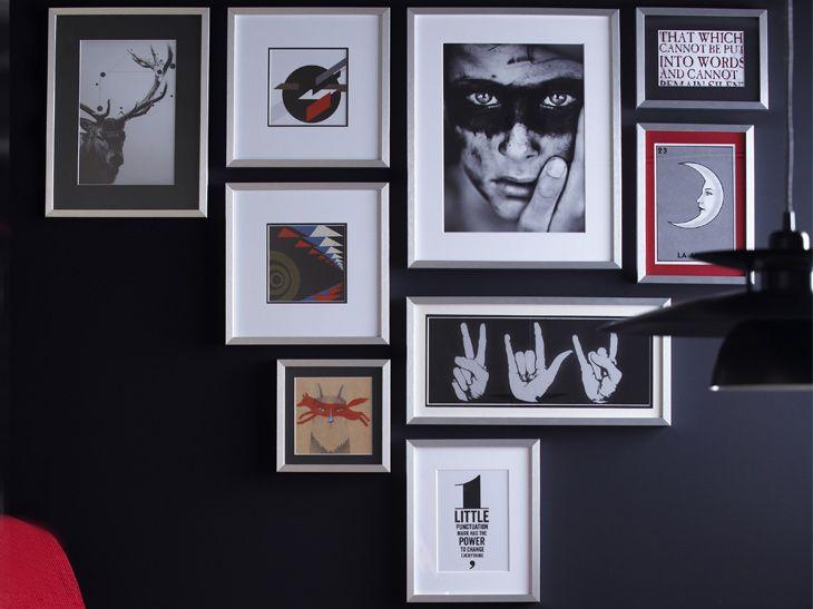 les 44 meilleures images propos de mur de cadre sur pinterest murs de photos murs illustr s. Black Bedroom Furniture Sets. Home Design Ideas