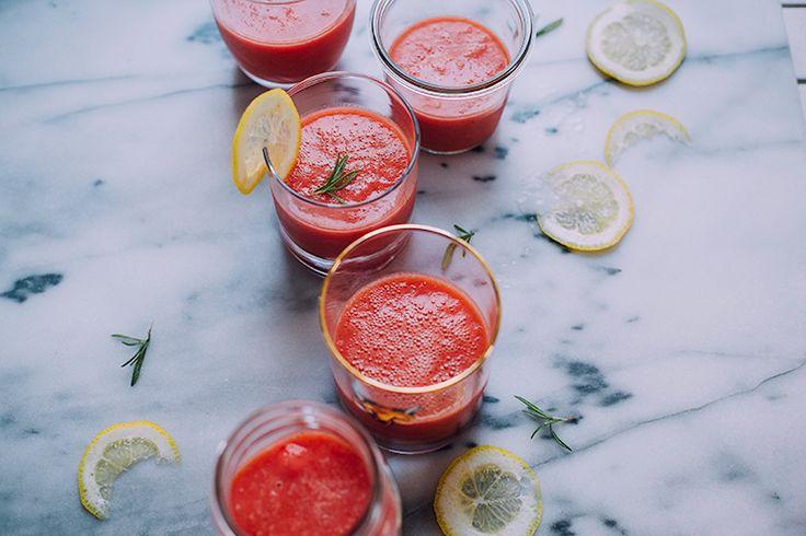 gefrorene Wassermelone Rosmarin-ade // die firstmess.com