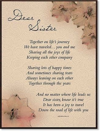 Best 25 Sister Poems Ideas On Pinterest For Sisters Funeral And Grandma