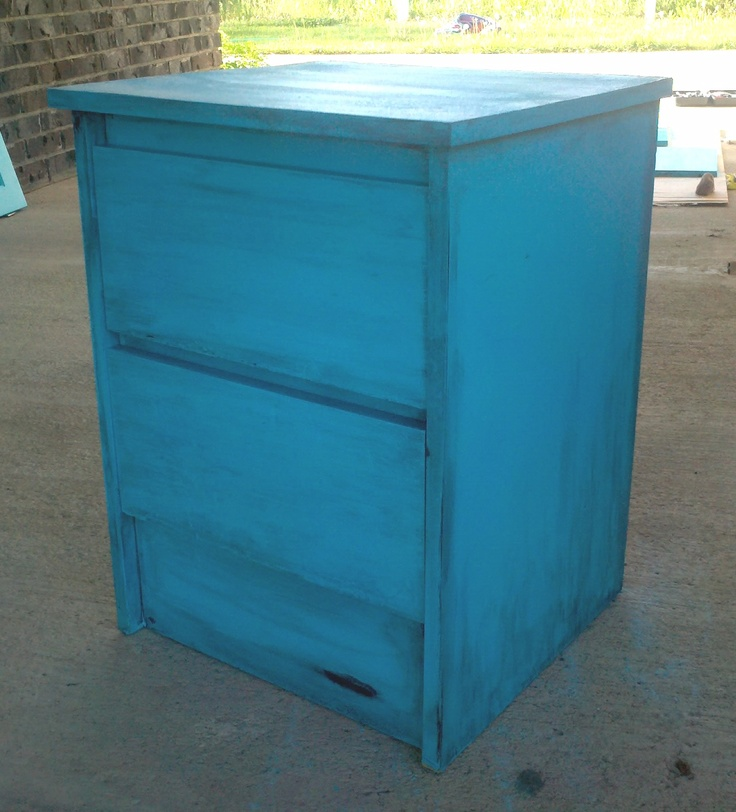 Cheap Old Furniture: So This Was An Old, Cheap, Particle Board Nightstand That