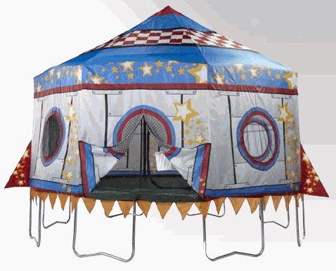 15' Jump King Rocket Trampoline Tent | MonsterMarketplace.com