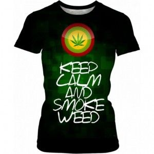 SMOKE WEED Koszulka Damska T-Shirt Full Print