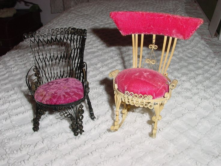 Doll Furniture For Sale Part - 42: SALE-SALE--Vintage Tin Can Art, Pin Cushion, Handmade Furniture Set