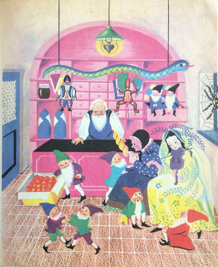 Lukáts Kató illustration /Kato Lukats/ Hungary, 1967, Mesebolt