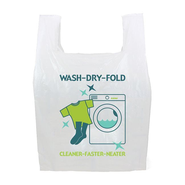 Wash Dry Fold Cleaner Neater Faster Plastic Coin Op Bags