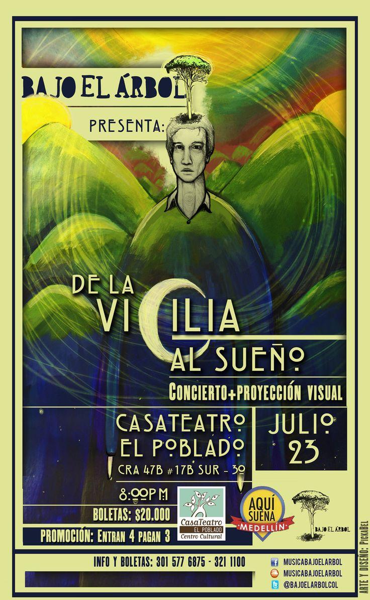 https://flic.kr/p/v2snCQ   Circadiano   De nuevo creando junto a Bajo el Árbol... Esta vez el dúo instrumental, ofrecerá un concierto en el que adaptará su música a los estados y transiciones por los que se atraviesa diariamente, estados y transiciones denominados como Los Ritmos Circadianos.***☾ϟ☁☀♡☯*** No se lo pueden perder en Medellín! JULIO 23 CasaTeatro El Poblado