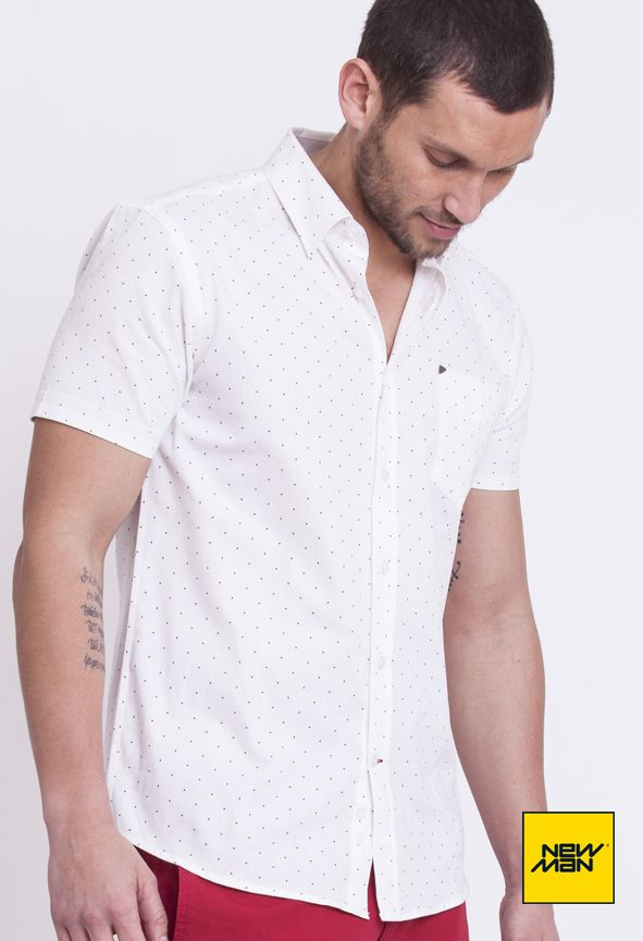 New Man Lookbook S/S'15 #White #Dots  #MustHave www.newmanchile.cl