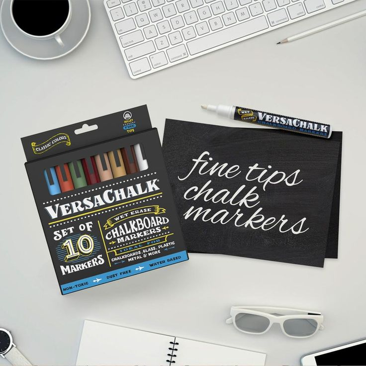 Classic Liquid Chalk Markers (Bold, 10 Pack)