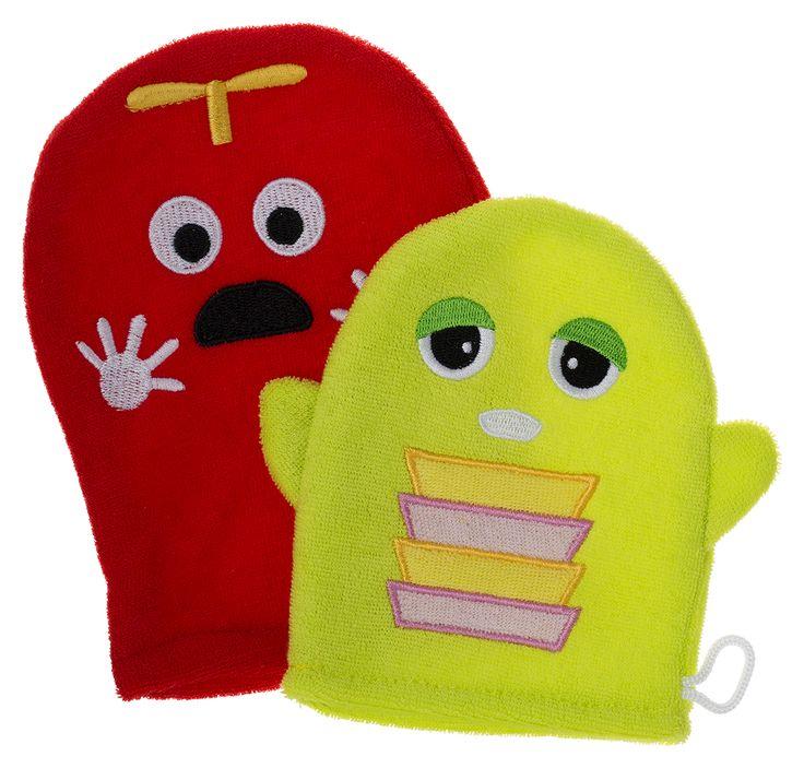 Gachapin x Mukku wash mittens