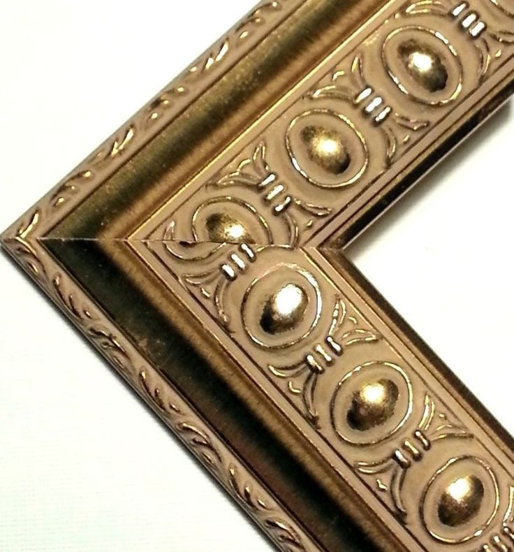 54 ft - CHOP & JOIN OR LENGTH Ornate Gold Picture Frame Moulding, Oval Bead Motif, Solid Wood $52.49