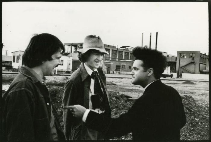 Херберт Кардуэлл, Дэвид Линч и Джек Нэнс на съемках «Головы–ластика», 1970–е годы, Лос–Анджелес