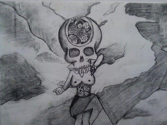 A5 pencil drawing