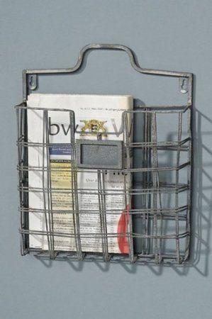 Wandzeitschriftenhalter grau 29cm x 36cm Zeitschriftenhalter Prospektehalter: Amazon.de: Küche & Haushalt