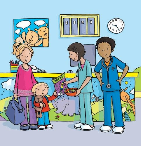 Sue King Illustration - sue king, digital, commercial, sweet, young, educational, novelty, activity, children, toddlers, boys, people, doctors, nurses, hospital, family