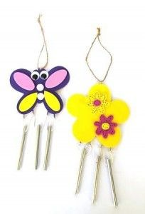 flower  and butterfly wind chime
