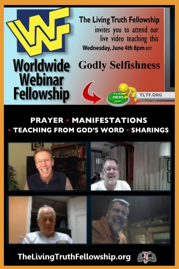 GODLY SELFISHNESS. For more details: http://goo.gl/SyO9Sm  #WWF