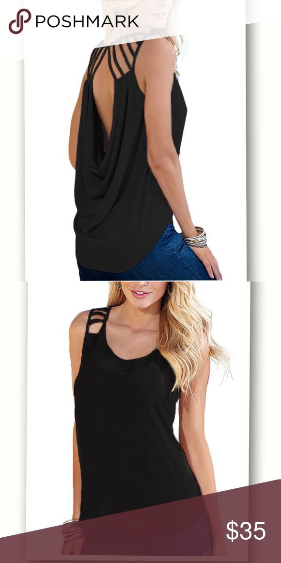 Cut out Draped Back Clubwear Top If you are planning to go clubbing in the evening, you would need some really awesome clubwear tops to hang out in. Spice up your simple top with cut outs beginning at the shoulders and leading to an open back with a draped design. Wholesale Cut out Draped Back Clubwear Top is not only chic daring but also sexy cool to show curves this summer. Tops Blouses
