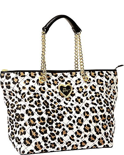 Betsey Freshens Up The Classic Tote Bag With Fun Flirty Prints Crafted In Durable Leopard Purseleopard