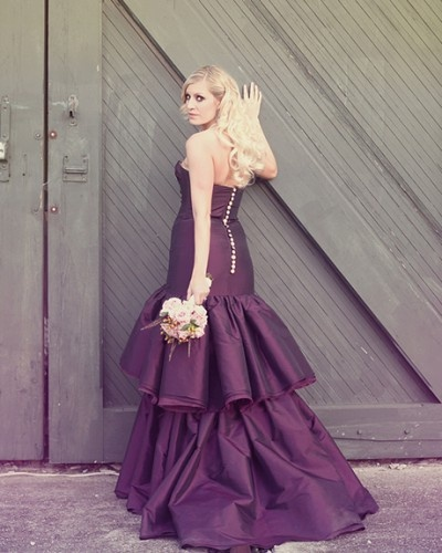 17 best images about purple black silver weddings on for Silver and purple wedding dresses