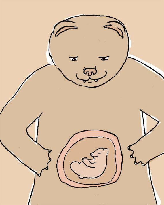 stampa art di gravidanza: indovinate... di doodleandhoob su Etsy