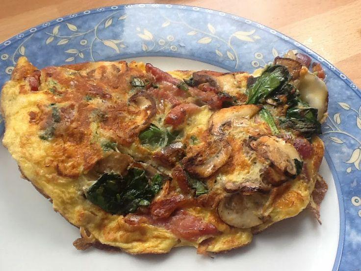 Uit mijn keukentje: Spinazie-champignon omelet