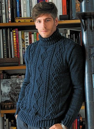 Cat. 12/13 - n° 587 Pull col roulé Tricothèque, broderie & tricot Achat en ligne  #FreePattern in French