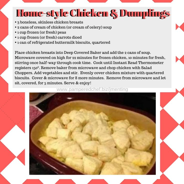 Home-style Chicken & Dumplings in the Pampered Chef Deep Covered Baker…