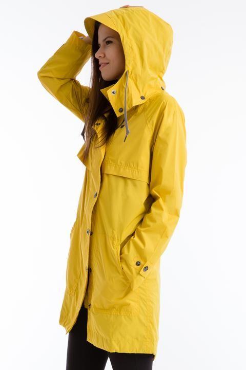 Anorak Long Raincoat CoatedYellow The Black hdCtsQrx