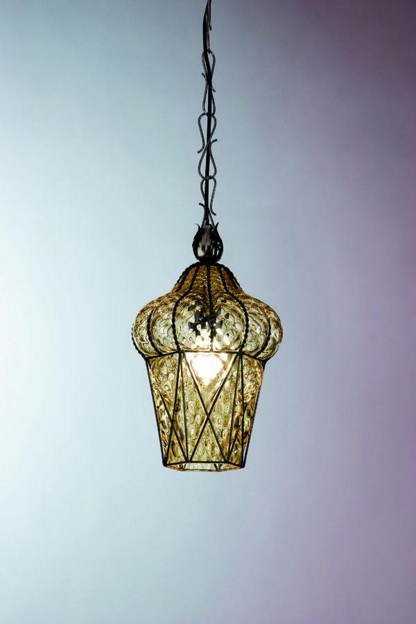 Blown glass hanging #lamp - Vecchia Murano collection - Piazza MS 114 #Siru