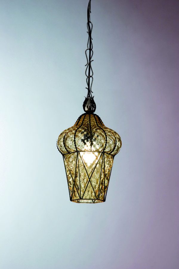 Blown glass hanging #lamp - Vecchia Murano collection - Piazza MS 114 #Siru