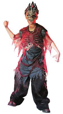 kids boys girls 10 12 crypt keeper halloween costume skeleton zombie creature - Skeleton Halloween Costume For Kids