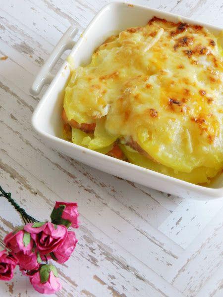 Cazuelitas de patata y salmón ahumado gratinadas   Cocinar en casa es facilisimo.com