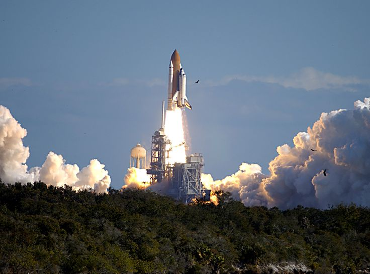Columbia Launches on STS-107 Mission - Space shuttle Columbia launches on mission STS-107, January 16, 2003.