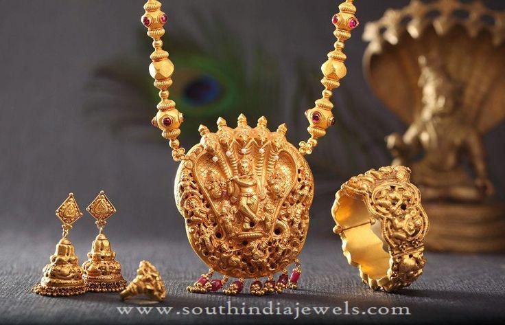Gold Antique Bridal Sets , Gold Bridal Jewellery Collections, Gold Antique Bridal Jewellery Designs.