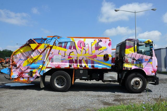 15 New Art Covered Recycling Trucks Are Hitting The D C Streets Dcist Garbage Truck Trucks New Art