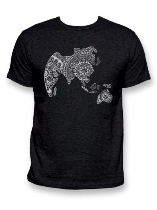 T-shirt Zenworld men black - Star to China  #zentangle #tshirt #fashion #black #men #china #design #global #world #star #startochina