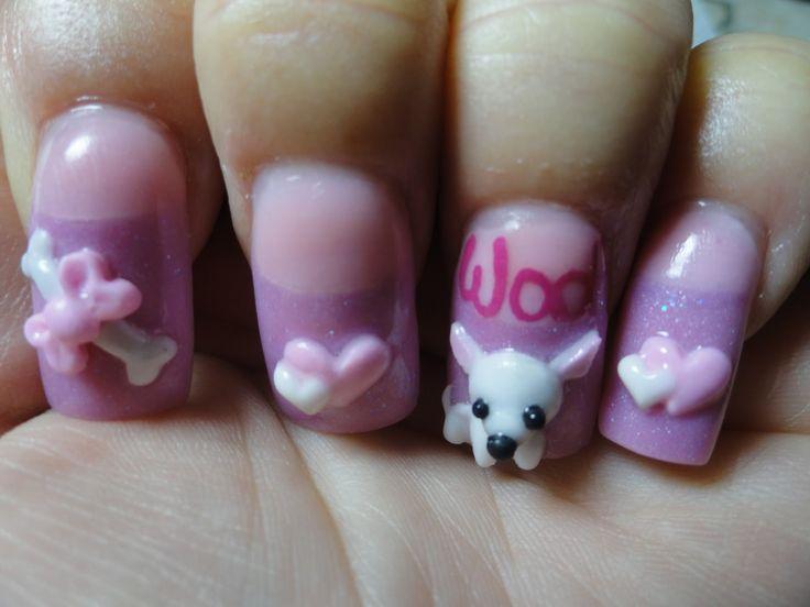 List of Sculpture Artists   3d puppy nail art 25 Mind Blowing 3D Nail Art
